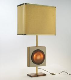Willy Daro, Table Lamp with Agate, c1970.