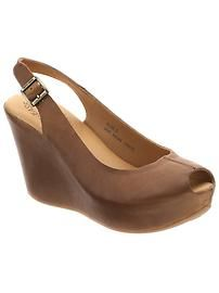 wedge with peep toe