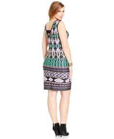 Love Squared Plus Size Printed Bodycon Dress - Dresses - Plus Sizes - Macy's