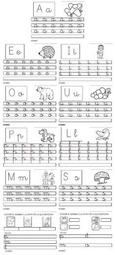 Actiludis: Vocales y primeras letras Educación Infantil