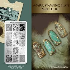Moyra Stamping Plate Mini Series No. 107 A day like thos  #moyra #nailart #stamping #plate #miniseries #mini #available #new #koromnyomda #stamper #nyomdazo #nyomda #adaylikethis #koromdiszites