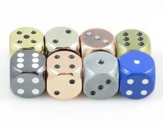 Metal Dice d6 With Pips (Choose Color) | Six Sided Dice