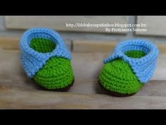 crochet shoes and sandal for kids, video tutorial Crochet Baby Boots, Knit Baby Booties, Crochet Bebe, Crochet Slippers, Knitting For Kids, Crochet For Kids, Baby Knitting, Baby Patterns, Crochet Patterns