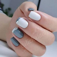 35 Trendy Short Nail Designs You'll LoveIf you like having short nails to longer ones, you're at the proper place. We've put together a very large gallery of nail designs for short nails. for the next time you wish some DIY or skilled salon manicure Easy Nails, Simple Nails, Cute Nails, Diy Nail Designs, Short Nail Designs, Cute Simple Nail Designs, Popular Nail Designs, Easy Designs, Nailed It