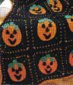 Hallowe'en Afghan Crochet Pattern - Printable