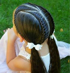 Trendy braids for kids ponytail girl hairstyles ideas Girls Hairdos, Baby Girl Hairstyles, Kids Braided Hairstyles, Cute Hairstyles, Updo Hairstyle, Braided Updo, Wedding Hairstyles, Childrens Hairstyles, Beautiful Hairstyles