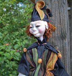 Marionette with Handwoven clothing, John C Campbell Folk School