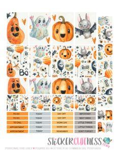 Free Printable Crazy Halloween Planner Stickers from StickerCuteness Free Planner, Happy Planner, Planner Ideas, Passion Planner, Freebies, Idee Diy, Journal Stickers, Printable Planner Stickers, Planners