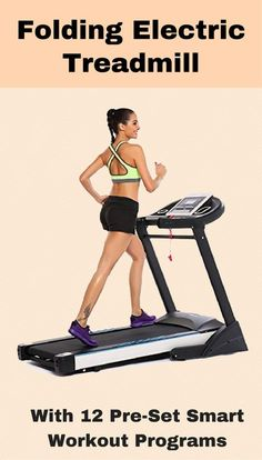 Training equipment cardio. Folding electric treadmill comes with pre-set workout programs. #trainingequipment  training equipment gym | training equipment products | training equipment design |Training Equipment |