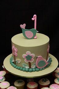 girls birthday cake - cute