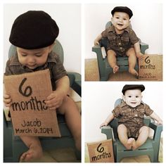6 month baby picture ideas by ebony 6 Month Baby Picture Ideas Boy, Baby Boy Pictures, Newborn Pictures, Baby Ideas, Newborn Baby Photography, Children Photography, Photography Ideas, Fotografia Tutorial, Monthly Pictures