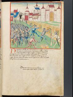 Detail: Diebold Schilling: Amtliche Berner Chronik. 1483. Burgunderbibliothek Bern Mss.h.h.I. 1 Fol. 243