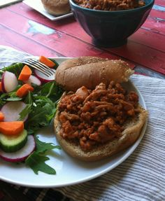 Turkey Sloppy Joes: an easy weeknight dinner that is lightened up with ...