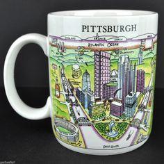 Pittsburgh PA Harvey Hutter A View of the World Coffee Mug Tea Cup CityMugs