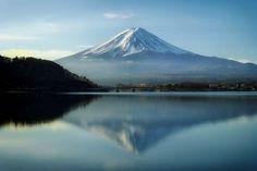 富士山, 日本, 山, ランドマーク, 空, 雲, 湖, 水, 風景