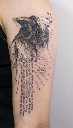 Illustration style bird tattoo - 110 Lovely Bird Tattoo Designs <3 <3