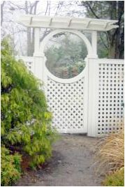 I think that it would be really awesome to put a gate like this leading to my garden. I would love to see what it would look like if I didn't trim the vines around it. I think that this would be so beautiful with vines growing through it. I'll have to keep that in mind for my garden this summer.