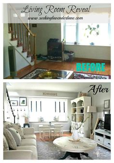 Living Room before after collage