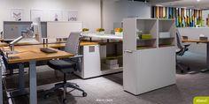 Allsteel NeoCon15 showroom featuring Further, Altitude, Involve Storage