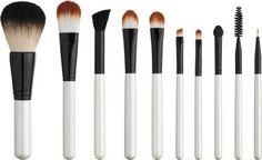 Perfect 10 - 10-Piece - Makeup Brush Set $39.95 #orglamix #naturalbeauty