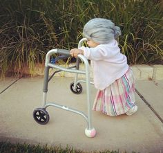 So funny! Don't know where we'd find a walker that small, but so funny!!