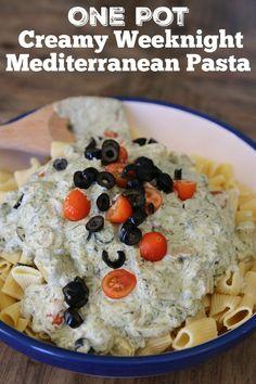 One Pot Creamy Mediterranean Pasta