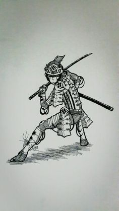 Samurai machine art