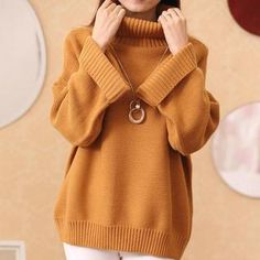 Buy 'Soft Luxe – Turtleneck Oversized Sweater' with Free International Shipping at YesStyle.com. Browse and shop for thousands of Asian fashion items from China and more!