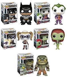 Amazon.com: FUNKO POP! HEROES: BATMAN ARKHAM ASYLUM: COMPLETE SET OF 5 VINYL FIGURES (IN-STOCK): Toys & Games
