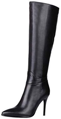 8463d48b931a Dance Style Women s Froie Autumn Winter Pointed Toe Stiletto Heels Knee  High Boot