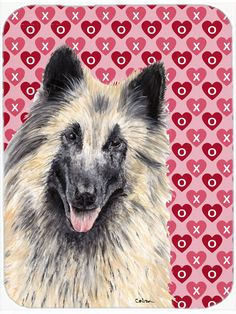 Belgian Tervuren Hearts Love and Valentine's Day Glass Cutting Board Large