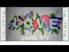 ♥ Como bordar que se vea la palabra Love ♥ Guarda N°4 ♥ Parte 1/2 ♥ - YouTube