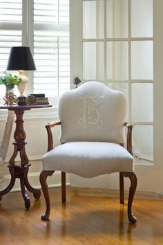 Monogrammed Chair