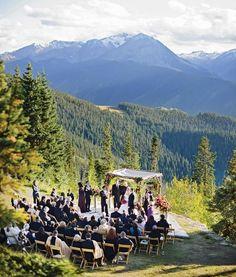 Mountain wedding in Aspen, Colorado, photo by James Christianson - Call Travel C...