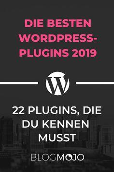 Die besten WordPress-Plugins 2019: 22 Plugins, die du kennen musst Seo Online, Online Marketing, Affiliate Marketing, Wordpress Template, Wordpress Plugins, Blog Websites, Web Design, Blogger Tips, Advertising Design