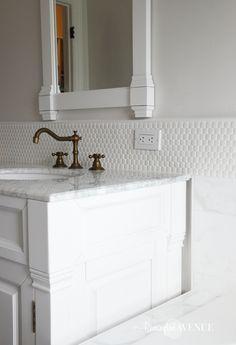 ORC-Week 4: Master Bathroom tile {Designer Style on a budget} - Remington Avenue