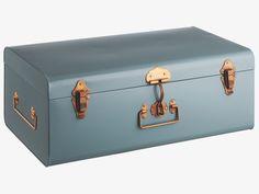 TRUNK BLUE Metal Blue metal storage trunk - HabitatUK