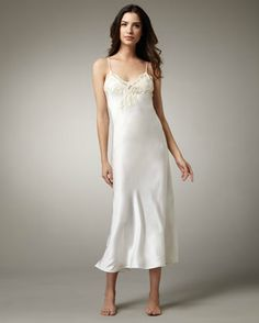10 Sexiest Options for Wedding Night Lingerie: Splurge and Feel Like a Hollywood Bombshell Satin Gown, Satin Dresses, Gowns, Formal Dresses, Satin Lingerie, Lingerie Sleepwear, Nylons, Bridal Nightgown, Wedding Night Lingerie