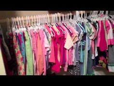 My girls share a closet, and they needed more hanging room, so I came up with a plan to install a rod off their bunkbed. Curtains For Closet Doors, Closet Rod, Drop Cloth Curtains, Diy Curtains, Ikea Open Wardrobe, Bookcase Closet, Diy Curtain Rods, Small Closet Organization, Organizing Ideas