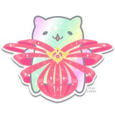 Mitchiri-Neko Sailor Moon [Sticker] by ClauCobos