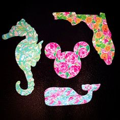 Lilly Pulitzer Inspired Magnets by MagicalMonograms on Etsy, $10.00