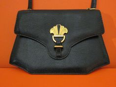 Hermes Lizard Shoulder Bag x Gold Hardware * vintage