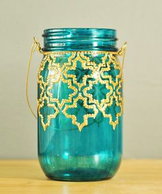 Palace Window Lantern - Handmade Moroccan Nights Collection / Love that your can purchase the Lamp kit and make it a LAMP