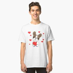 Love S, Dog Love, My T Shirt, Heather Grey, Classic T Shirts, Tees, Fabric, Mens Tops, Cotton