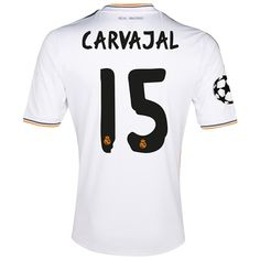 Real Madrid UEFA Champions League Home Shirt 2013 14 with Carvajal 15  Real  Madrid ee89e47736