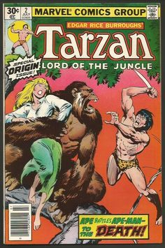 TARZAN Lord of the Jungle #2 Marvel Comics 1977 Special Origin Issue