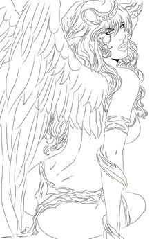 157 best angel coloring pages images