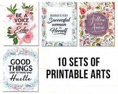 Printable Quotes Bundle (set of Printable art, home decor, Digital Print, frame, Printable wall art Printable Quotes, Printable Wall Art, Canvas Ideas, Digital Prints, Printables, Frame, Handmade Gifts, Etsy, Decor