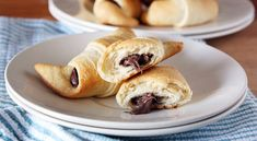 Nutella Crescent Rolls by girlversusdough: Easy Chocolate Croissants! #Crescent_Rolls #Croissant #Chocolate #Nutella