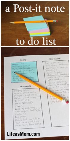 Post-it Note To Do List System - Planning that Works! - Life As Mom Planner Tips, Happy Planner, 2015 Planner, Passion Planner, Vie Motivation, Brain Dump, Planner Organization, Organisation Ideas, Time Management Tips